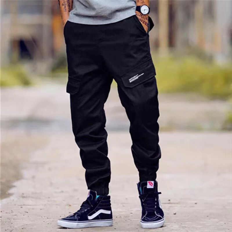 Модные Классические армейские брюки высокие уличные хлопковые джинсы Мужские Jogger Брюки брендовые дизайнерские большие карманные военные штаны-карго мужские джинсы