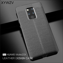 For Cover Huawei Mate 20X Case Luxury Armor Rubber Phone Silicone Fundas