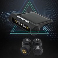 Dewtreetali Smart Car TPMS Tyre Pressure Monitoring System Solar Power Charging Digital LCD Display Auto Security