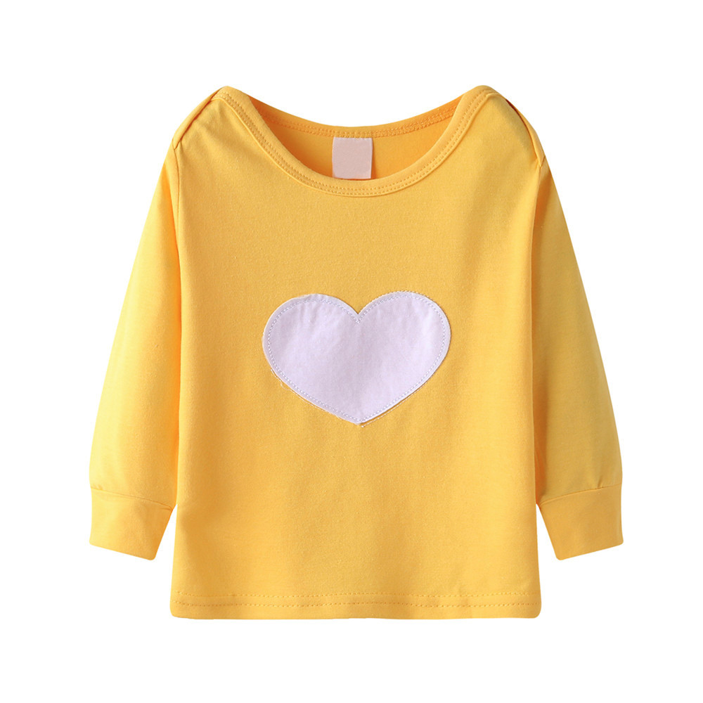 810b62da8354b Cute Baby Girls T shirt Long Sleeve Heart Print Tops T Shirt Clothes  Outfits Kids Clothes Little Girls Clothing #C-in Tees from Mother & Kids on  ...