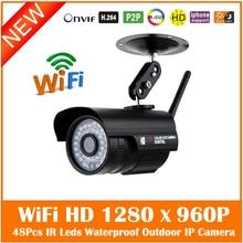 Wi-fi 960 P Пуля Ip-камеры Беспроводные Видеонаблюдения Открытый Водонепроницаемый Motion Detect Cctv 36 Ик Свет Freeshipping Горячей Продажи