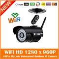 1.3mp hd 960 p wifi câmera ip sem fio ao ar livre da bala do metal à prova d' água cmos de vigilância webcam motion detect freeshipping