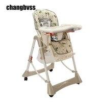 Детский стульчик для кормления ребенка регулируемый и складная детская Eatting ужин высоком стуле регулируемая высота