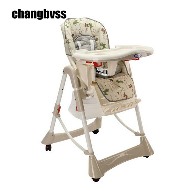 Feeding Baby Chair Baby Highchair Adjustable and Foldable Children Eatting Dinner Chair High Height Adjustable baby highchair foldable high chair for kids adjustable feeding chair with pu leather cushion dining table with wheels