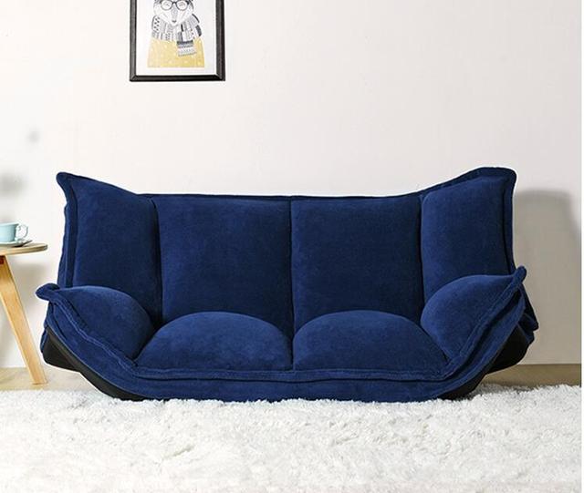 مايكرو-الجلد المدبوغ 5-موقف قابل للتعديل للتحويل حصير أريكة بمستوى الأرض السرير النائم الأريكة المتسكع أريكة للكلية النوم نوم ستوديو