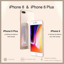 Разблокированный новый оригинальный Apple iPhone 8/8 Plus TouchID 4G LTE iOS 12MP камера 4,7/5,5 «retina HD дисплей беспроводной Смартфон