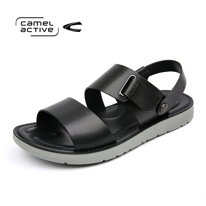 Camel Active Summer Casual Slippers Men Leather Sandals Fashion Flat Sandals For Breathable Men Sandals Mens Shoes 177364718
