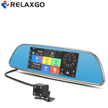Best price Relaxgo 3G 7″ Car DVR Bluetooth Android Rearview Mirror Car Camera GPS Navigation Wifi Vehicle Dash Cam Dual Lens Full HD1080P