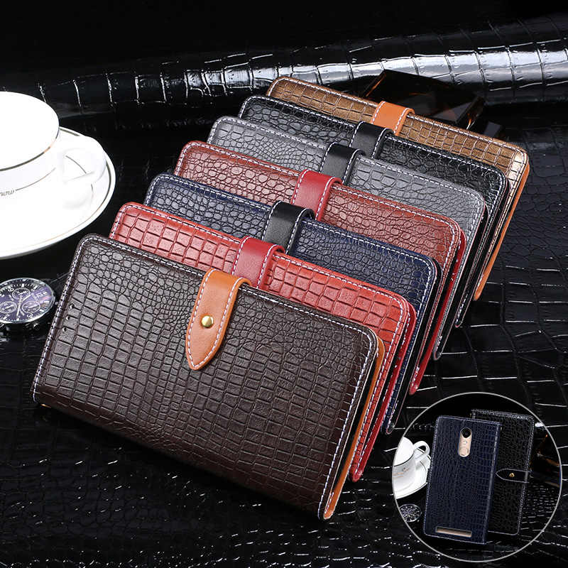 ITien Flip Vintage de cuero para Micromax Q4101 Q4202 protector de lujo TPU funda de silicona cubierta Etui billetera para Micromax Q4260