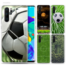 Football Field Case for Huawei P20 P30 P Smart Z Plus 2019 P10 P9 P8 Mate 10 20 lite Pro Silicone Sport Fundas Cover Phone Bags(China)
