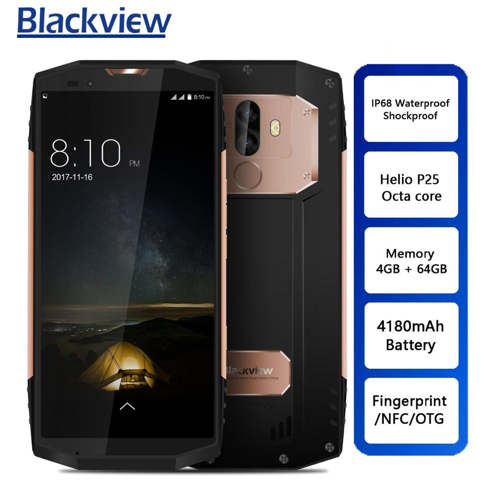 Blackview BV9000 P25 Helio de Smartphones Octa Núcleo 4 GB + 64 GB 5.7 polegada IP68 4G Celular NFC À Prova D' Água 4180 mAh Bateria Câmera 13.0MP
