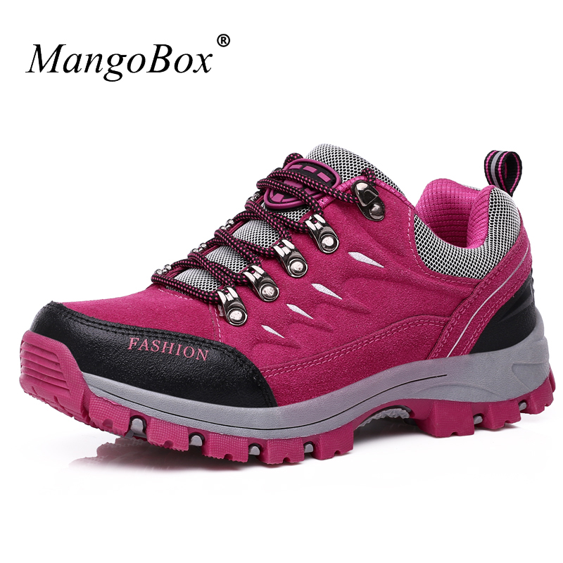 2016 Hunting Boots Women Red Walking Shoes Women Purple Outdoor Shoes Women Trekking Hot Sale Anti-Slippery Shoes Mountain Women