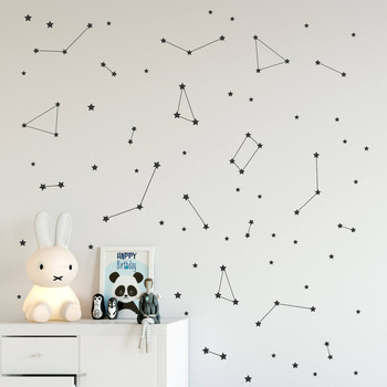 Constellation Wall Decal Kids Bedroom Removable Decoration Outer Space Nursery Decor Vinyl Stickers Zodiac Astronomy Art Mural