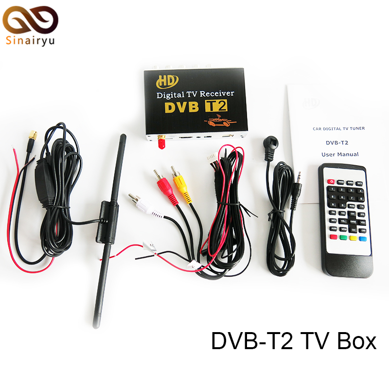 H.264 60KM/H PVR DVB-T DVB-T2 MPEG-4 Digital TV Box for Car DVD Multimedia Player Head Unit For Android 5.1 6.0 DVD Player 1080p mobile dvb t2 car digital tv receiver real 2 antenna speed up to 160 180km h dvb t2 car tv tuner mpeg4 sd hd