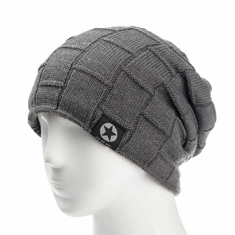 Sandman Bintang Musim Dingin Topi Tambahkan Bulu Hangat Beanies Topi Longgar Skullies Knitted Topi untuk Pria Wanita Olahraga Ski Beanies Tutup