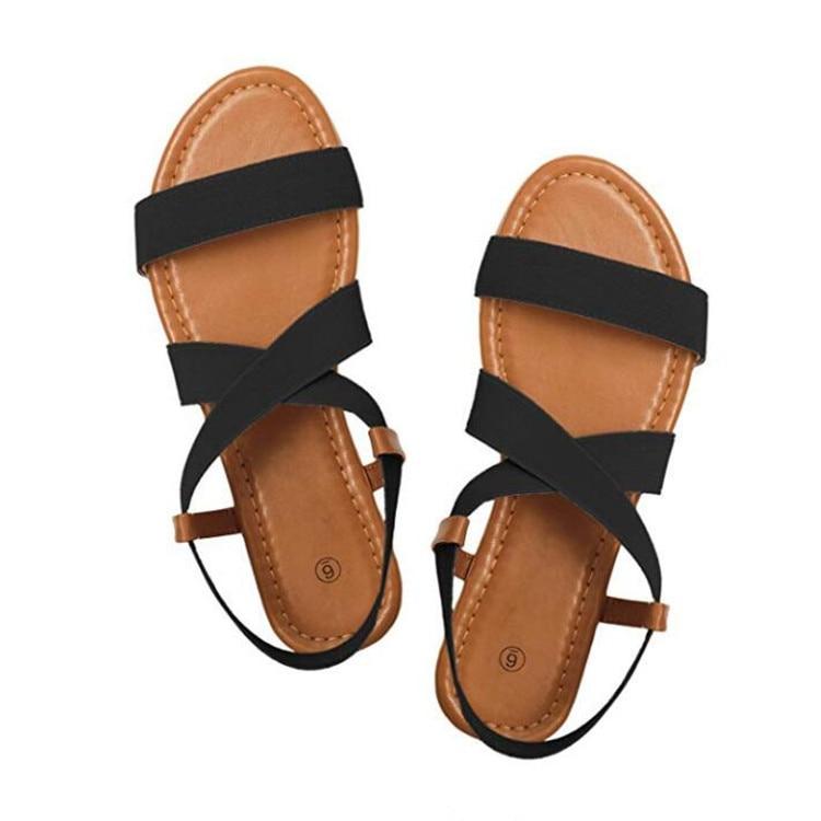 HTB103dXaEjrK1RkHFNRq6ySvpXaV 2019 Women's Sandals Spring Summer Ladies Shoes Low Heel Anti Skidding Beach Shoes Peep-toe Fashion Casual Walking sandalias