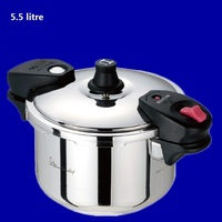 free shipping 5.5 litre pressure cooker general medical #304 stainless steel cooking stew pot export high quality