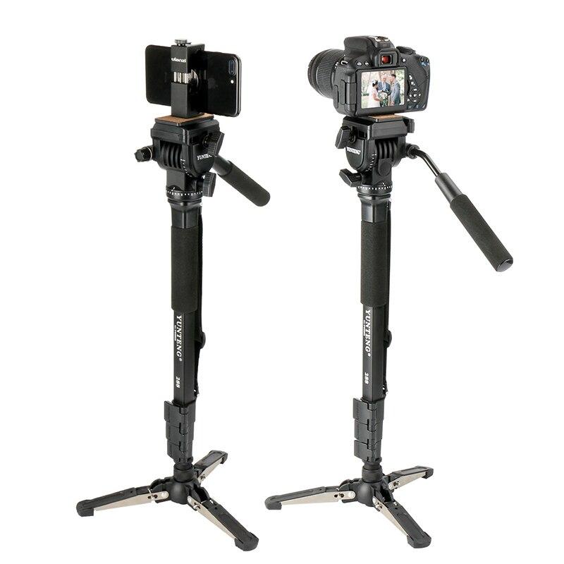 Ulanzi VCT-288 58in Fotografia Treppiedi Monopiede monopiede con Fluid Pan Testa Piastra A Sgancio Rapido per iPhone Canon Nikon DSLR Camera