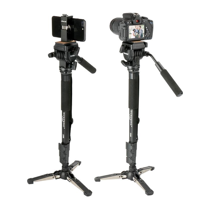 Ulanzi vct-288 58in фотографии штатив монопод UniPod с жидкость с полукруглой головкой Quick Release Plate для iphone Canon цифровых зеркальных фотокамер Nikon Камера