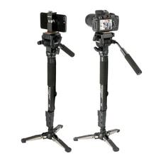 Yunteng VCT 288 58in Smartphone DSLR SLR Camera Tripod Monopod Unipod Fluid Pan Head Quick Release