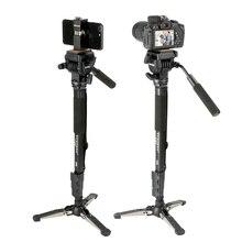 Yunteng VCT 288 58in Smartphone DSLR SLR Kamera Stativ Einbeinstativ Einbeinstativ Flüssigkeit Pan Kopf Schnelle Release Platte für iPhone Canon Nikon