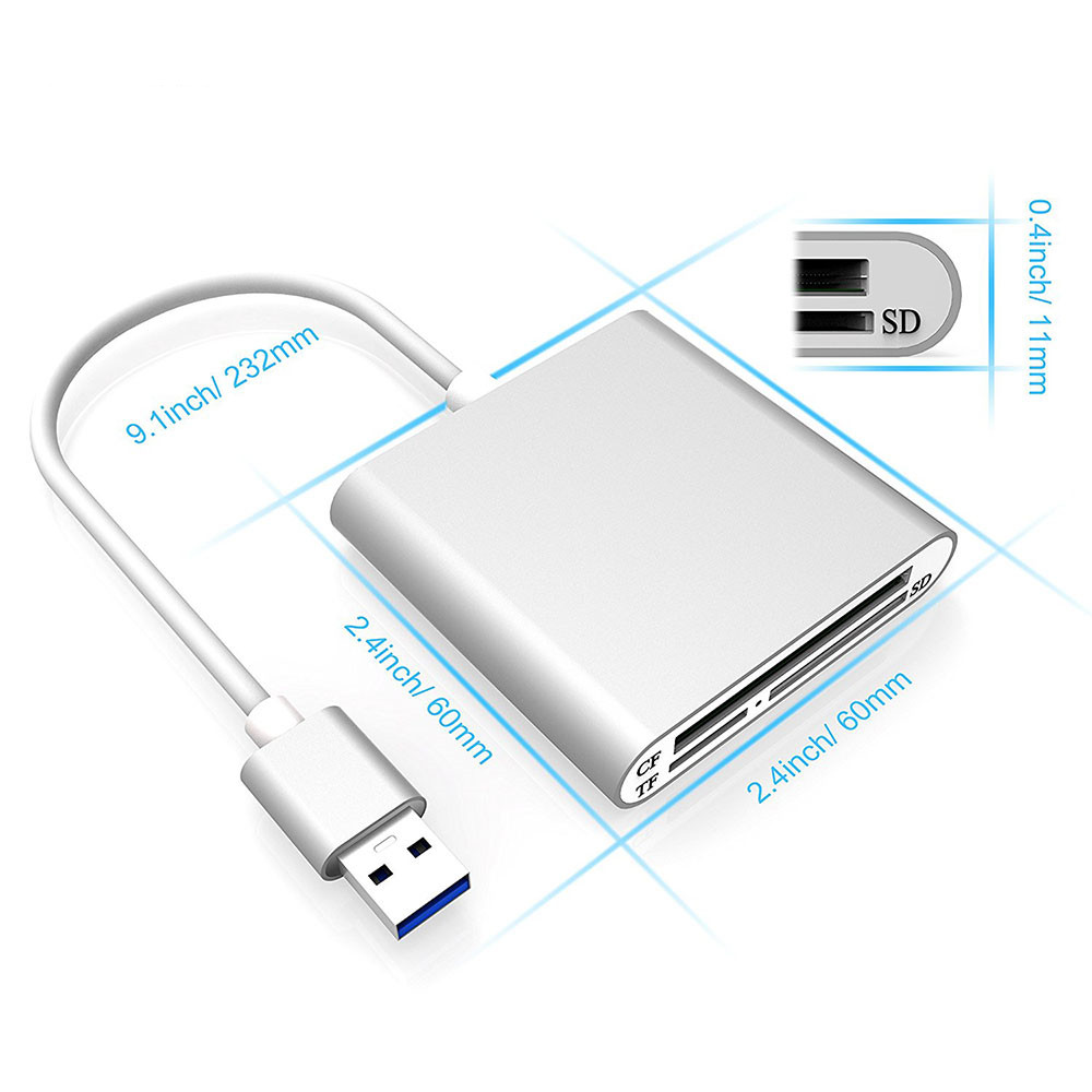 Adattatore USB Hub Multi-Card Reader SD SDHC MMC CF XD MS SEPIA USB LETTORE SCHEDE