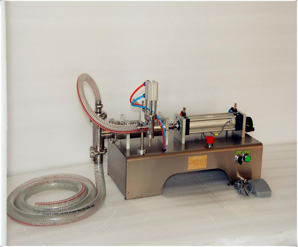 Fully pneumatic filler liquid or paste filling machine, pneumatic,semi auto filler,single head liquid filler 100-1000ML 100 1000ml pneumatic volumetric softdrin liquid filling machine pneumatic liquid filler for oil water juice honey soap