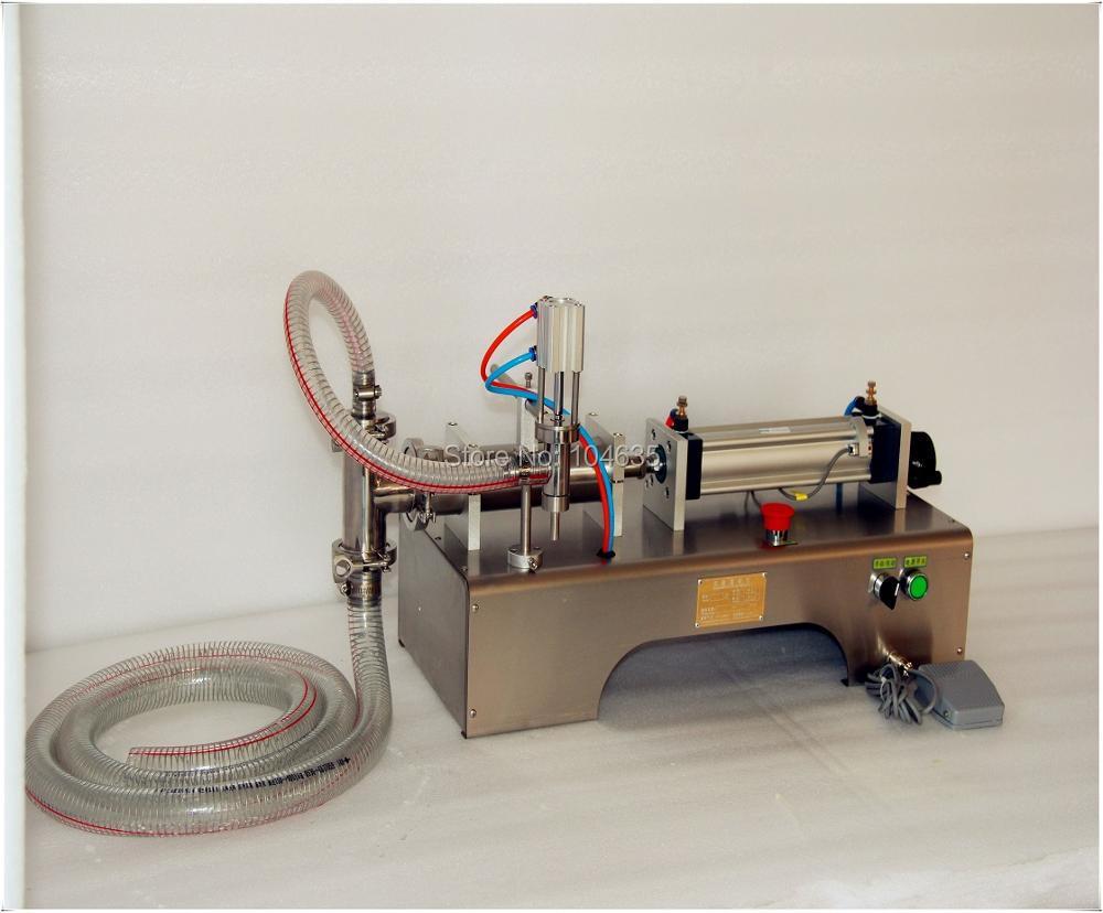 Fully Pneumatic Filler Liquid Or Paste Filling Machine, Pneumatic,semi Auto Filler,single Head Liquid Filler 100-1000ML