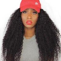 Афро кудрявый парик 13x6 Синтетические волосы на кружеве человеческих волос парики для Для женщин натуральный черный 250% бразильский Синтети