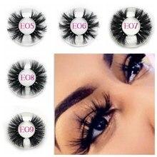 Mikiwi 25mm Long 3D mink lashes E01 extra length eyelashes Big dramatic volumn strip thick false eyelash