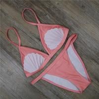 Shell Printed Bikini Women S 2018 Newest Swimsuit Adjustable Strap Sexy Push Up Swimwear