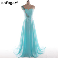 2017 Vestido De Noiva Elegant A Line Chiffon Vintage Wedding Dress Flowers Long V Neck Neckline