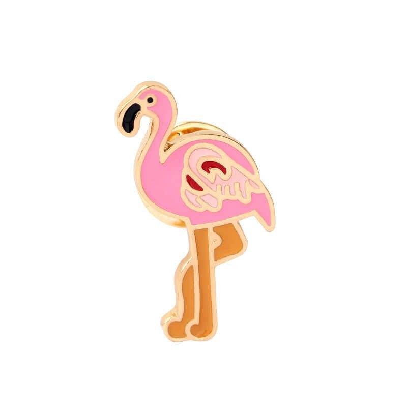Hot Cartoon Nette Katze Pinguin Panda Elefanten Flamingo Brosche Tier Broche Emaille Pin Broschen für Frauen Männer Abzeichen Jacken Pins