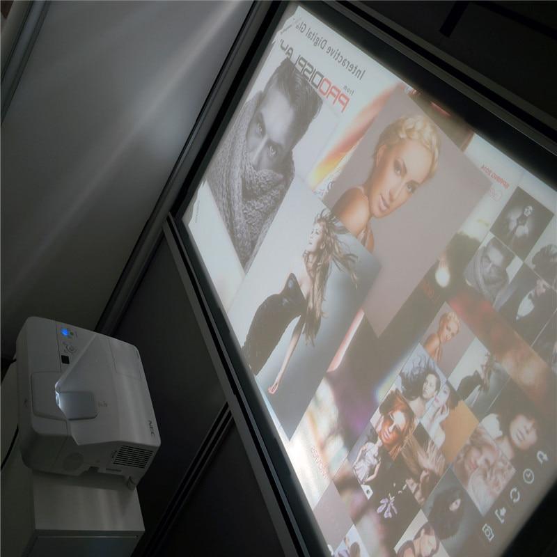 1.52x30 m Haute Contraste Gris Film de Projection pour le center commercial/Sport zone/Musées