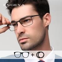 Optical Alloy Glasses Men Prescription Eyeglasses Square Retro Clear Myopia Computer Glasses Frame #IP9010