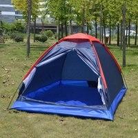 Folding Waterproof Single Layer Two People Tent Outdoor Ultra Light Rainproof Windproof Picnic Camping Beach Tent