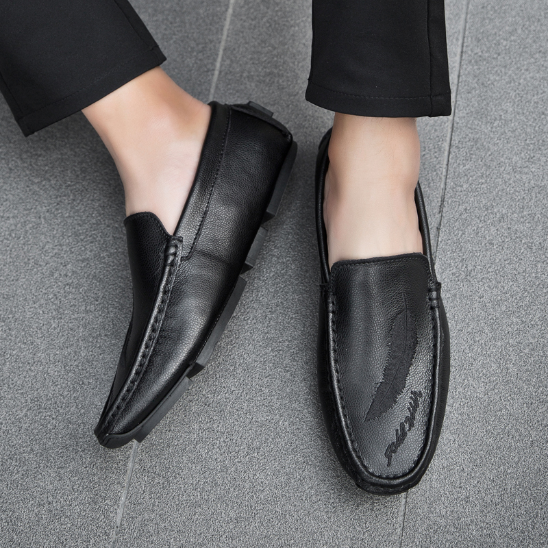 Casual Respirant En Hombre Mode Hommes Northmarch Glissement Cuir Conduite De Mocassins blanc Zapatos Sur Chaussures Noir Des 1575wOq