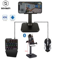 PUBG Controller Mobile Controller G3 Keyboard Mouse Converter Height Adjustable Bluetooth Gamepad for iPad Andorid Plug and Play