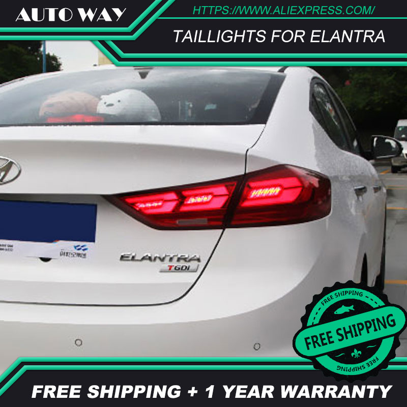 Tail light LED lights parking Elantra taillights LED Elantra taillight case for Hyundai Elantra taillights 2017