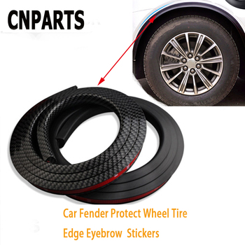 CNPARTS 150cm Car Wheel Tire Eyebrow For Mercedes W203 W211 W204 W210 Benz BMW F10 E34 E30 F20 X5 E70 Black Fender Strip Sticker image