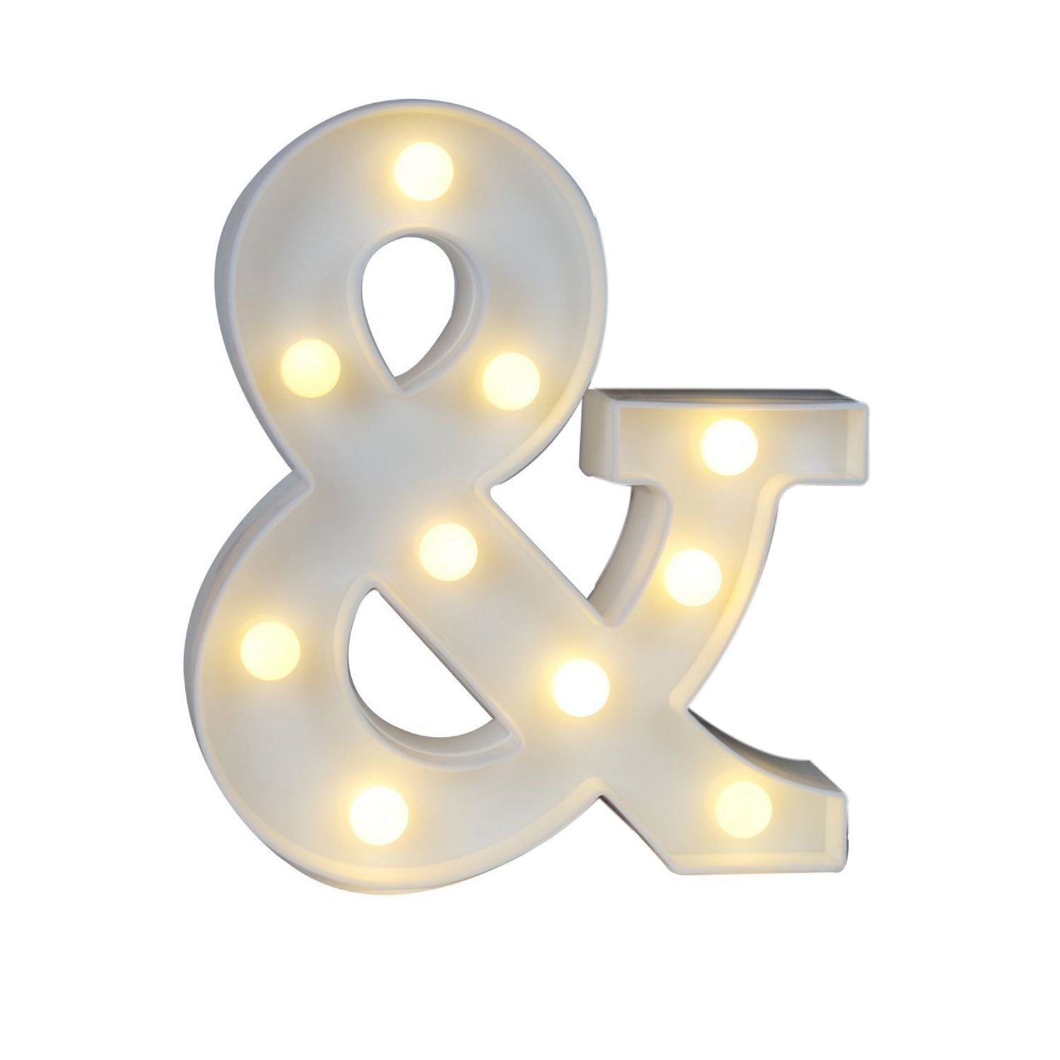 US $5 99 14% OFF|Ampersand Symbol Marquee Letter Lights Alphabet Light Up  Sign for Wedding Home Party Bar Decoration Dropshipping-in Night Lights  from