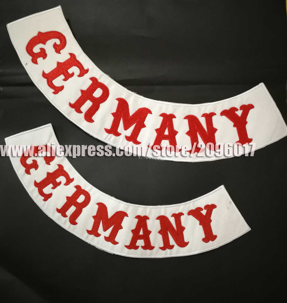 GERMANY ROCKER Small Iron On Patch