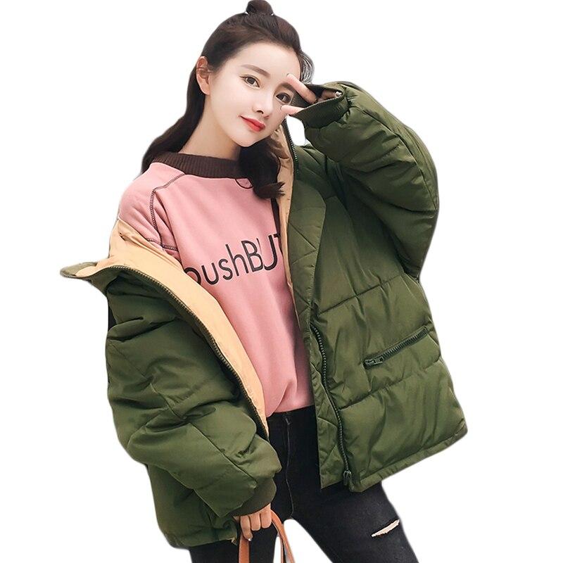 2018 Autumn Winter Jacket Women   Parkas   for Coat Fashion Female Jacket With a Hood Jaqueta Feminina Chaquetas Mujer K077