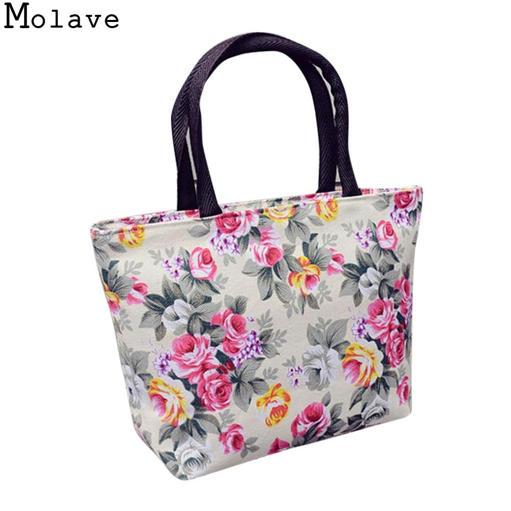 Canvas Bohemia Printing Handbag Ladies Elegant Large Shopping Tote Female Portable Shoulder Bag Mar28