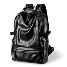Korean Style High Quality PU Leather Laptop Backpack Teenage Student College Travel Backpack Stylish Rucksac School Bookbag