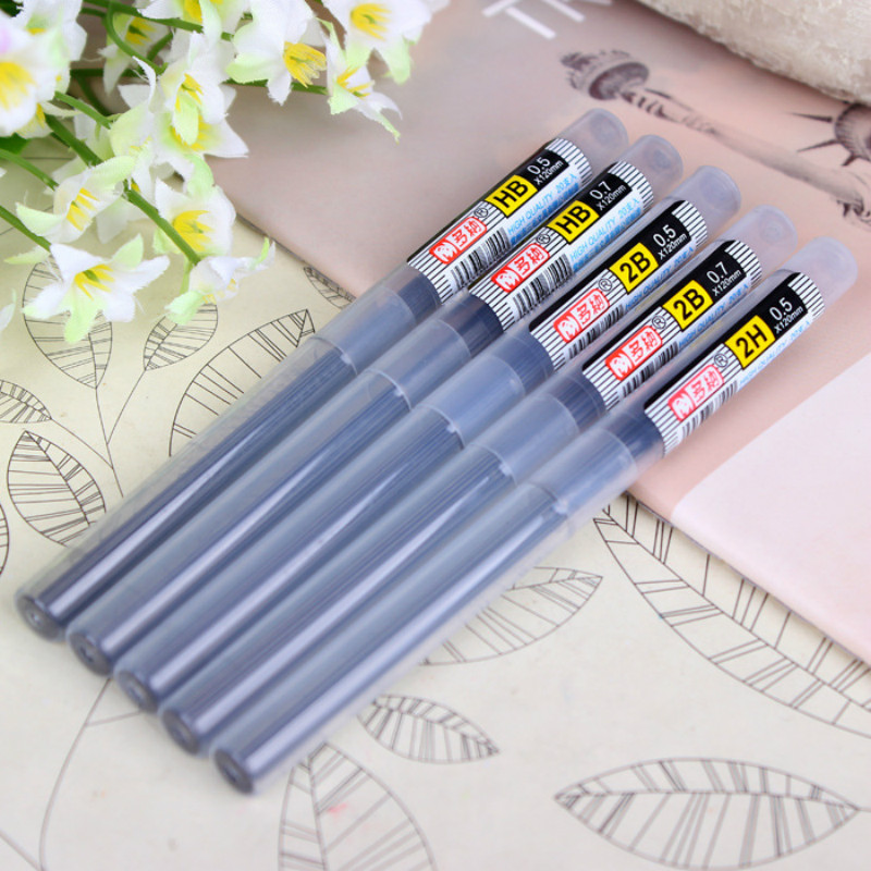 2017 New Style High quality 2B HB Lead a Refill Tube 0.5 mm / 0.7 mm Automatic Pencil Lead for mechanical pencil 2 pcs lot stabilo 7880 mechanical pencil refill 1 4mm lead hb hardness smoothly writting pencil refill