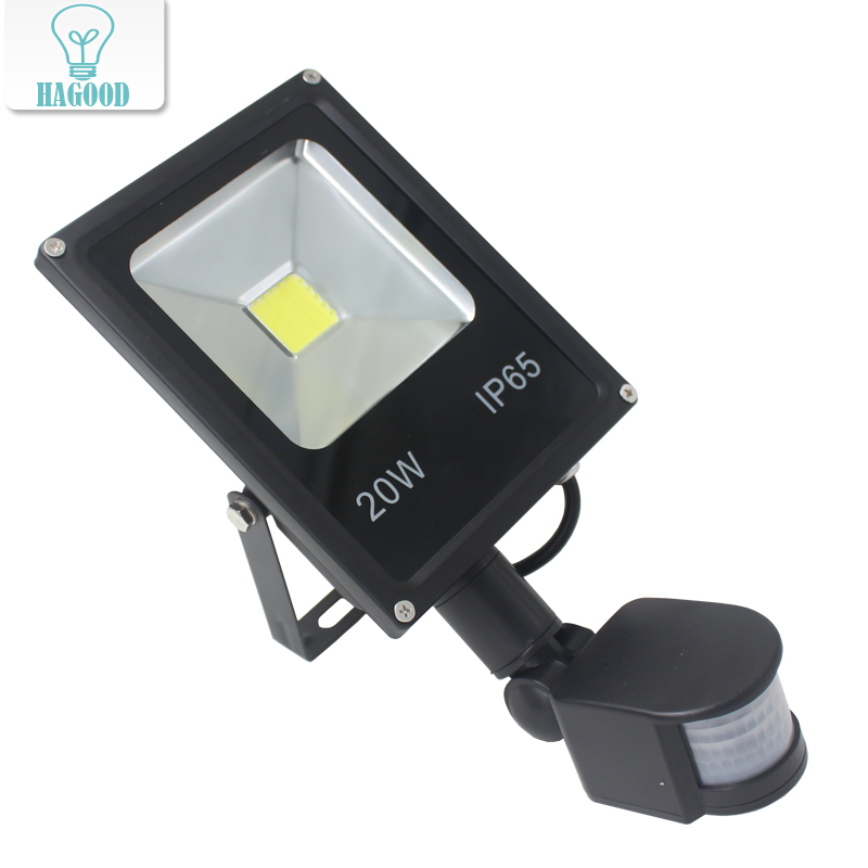 Newest 85-265V 10W 20W 30W 50W Led Flood Light Led Spotlight New Type Black Shell PIR Motion Sensor Induction Sense Led Lamp free dhl fedex 85 265v 10w 20w 30w 50w 70w 100w pir led floodlight with motion detective sensor outdoor led flood light spot