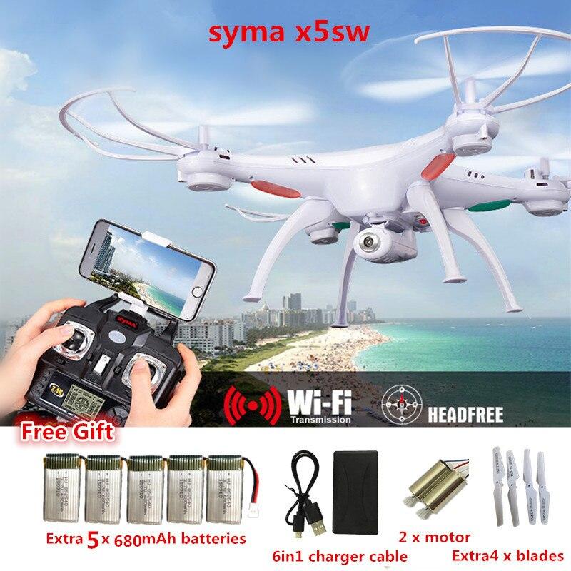 RC Drone Syma X5SW FPV RC Quadcopter Drone con la Macchina Fotografica 2.4G-Axis RC Elicottero Drone Con La Macchina Fotografica HD VS JJRC H31 JJRC H8 Mini
