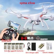 Радиоуправляемый Дрон Syma X5SW FPV Мультикоптер Дрон с Камера 2,4 г 6-оси вертолет Дроны с Камера HD VS JJRC H31 JJRC H8 мини