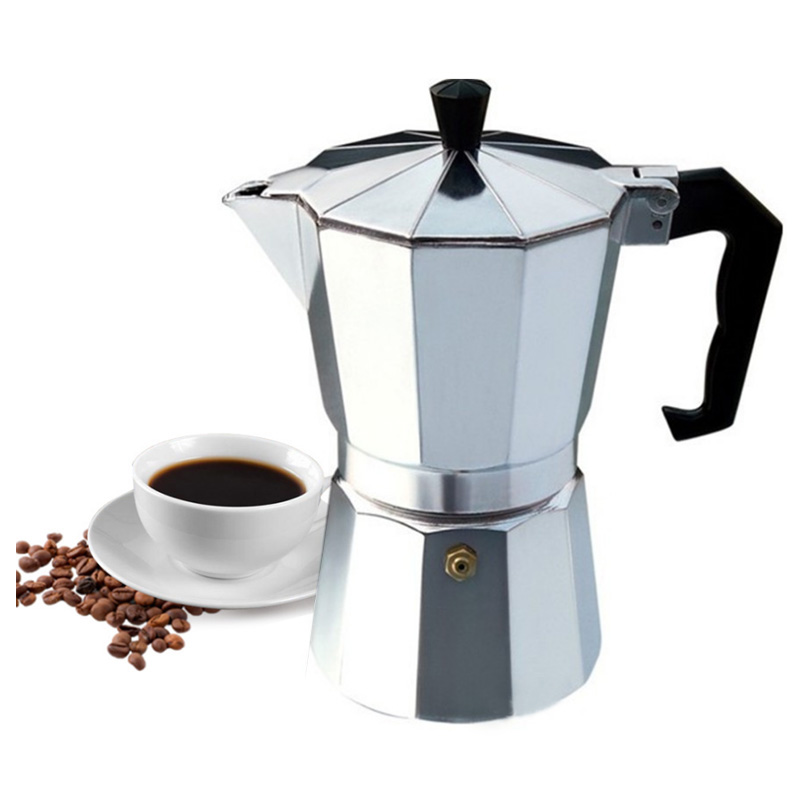 Aluminum Moka Coffee Maker Mocha Italian Top Moka Cafeteira Expresso Latte Stovetop Filter Coffee Pot Percolator